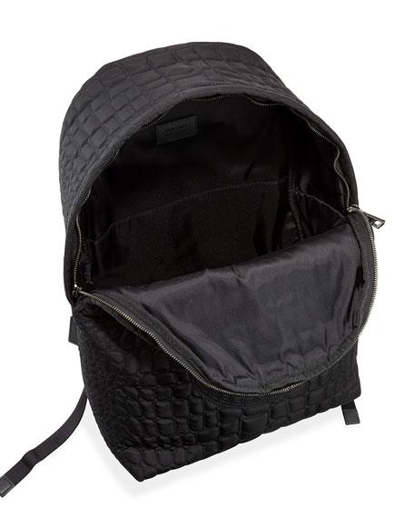 Zaino Men's Quilted-Nylon Backpack