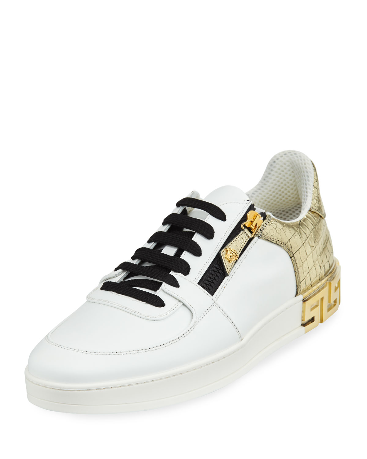 75cc3eafaf4 Versace Men s Tribute Leather Low-Top Sneakers