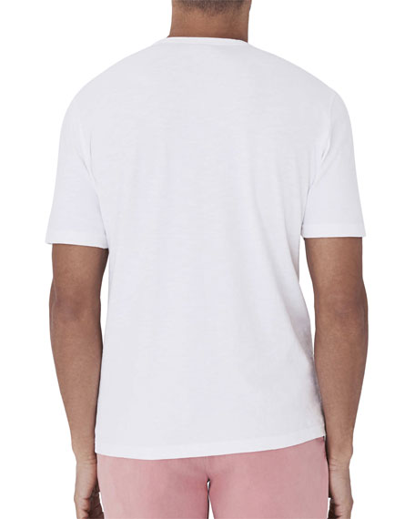 Image 2 of 2: Faherty Men's Striped Pocket T-Shirt