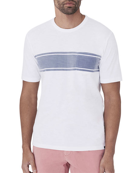 Image 1 of 2: Faherty Men's Striped Pocket T-Shirt