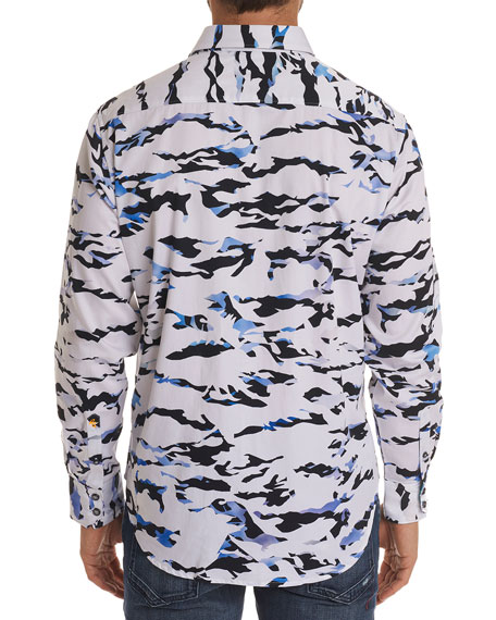 Image 2 of 2: Men's Scales Classic Fit Camo-Design Sport Shirt