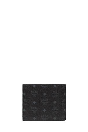 MCM Men's Visetos Original Flap Bi-Fold Wallet
