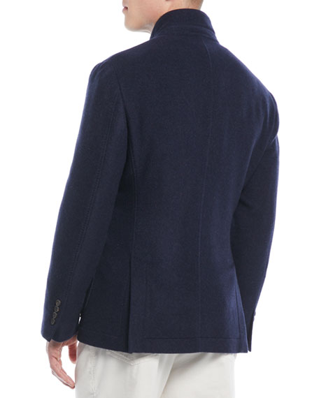 Men's Cashmere Patch-Pocket Jacket