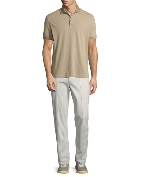 Men's Leisure Fit Pleated-Front Pants