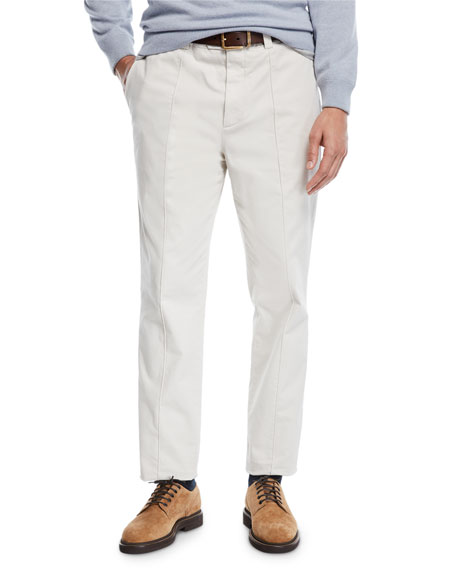 Brunello Cucinelli Men's Leisure Fit Pleated-Front Pants