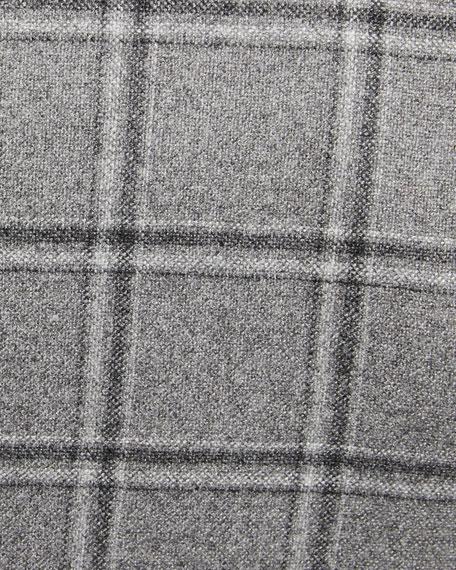 Kiton Men's Windowpane Cashmere Sport Coat