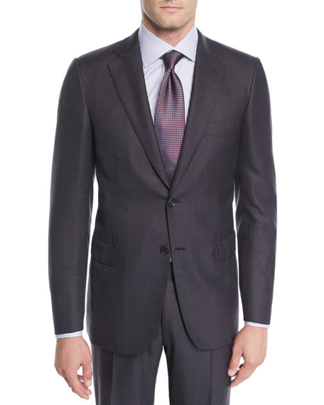Brioni Men's Wool Windowpane Two-Piece Suit