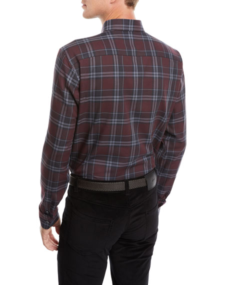 Image 2 of 2: Men's Plaid Cotton Shirt