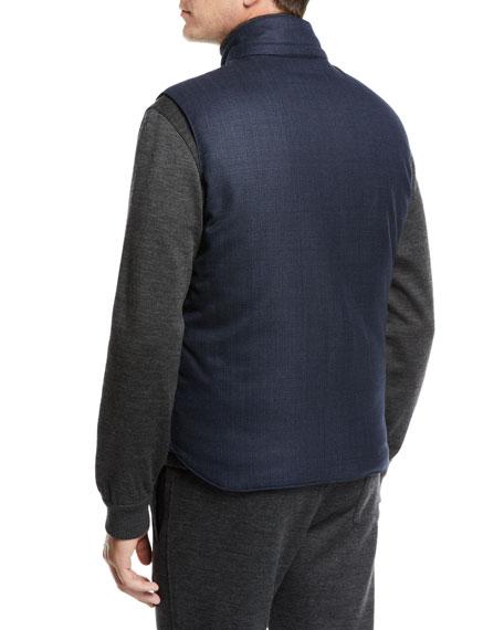Brioni Men's Reversible Zip-Front Vest