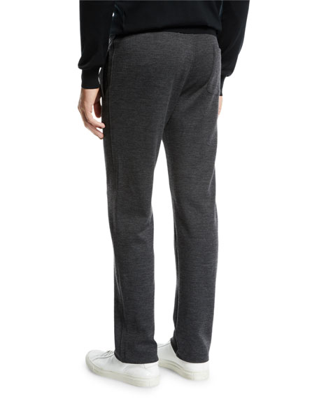 Brioni Men's Heathered Jersey Sweatpants