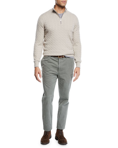 Brunello Cucinelli Men's Leisure-Fit Cargo Pants