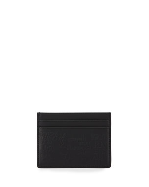 5a3183c507a1 Saint Laurent Men's 1971 Typography Embossed Leather Card Case. Favorite.  Quick Look