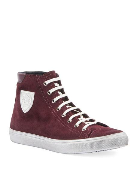 Men'S Bedford Suede High-Top Sneaker in Red