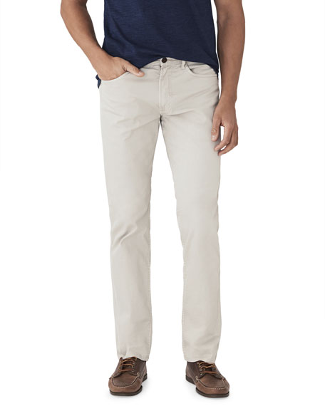 Image 1 of 2: Faherty Men's Comfort Twill Five-Pocket Pants