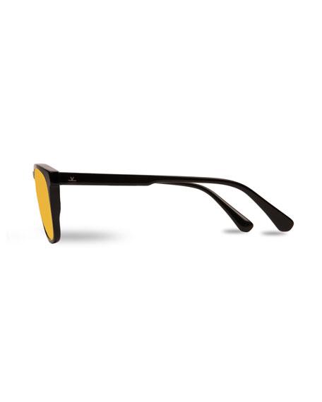 Vuarnet Men's District Large Rectangular Acetate Sunglasses