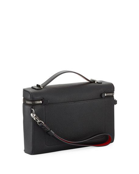 Christian Louboutin Men's Leather Zip-Around Pouch