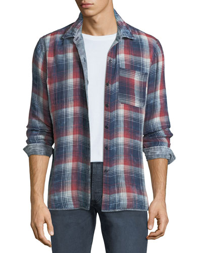 Men's Reversible Plaid/Check Sport Shirt