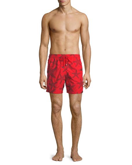 Vilebrequin Men's Mistral Starlettes Broderie Swim Trunks