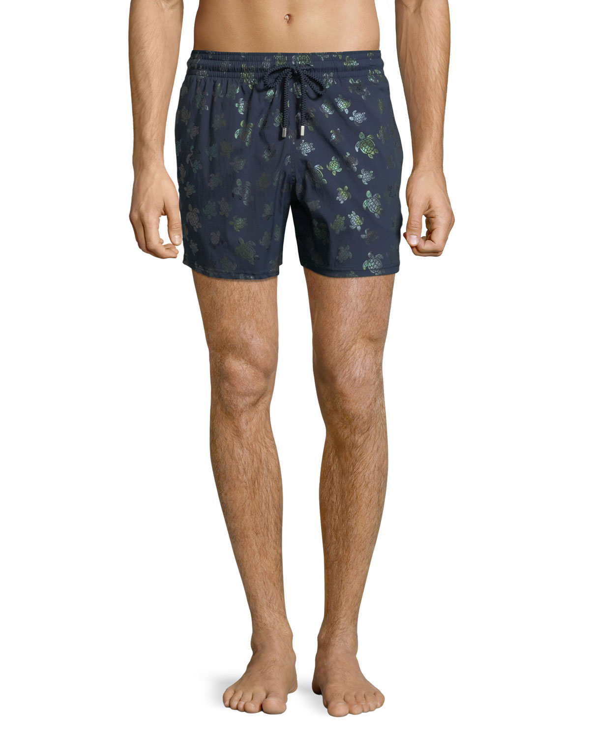 5a9fa703909b7 Vilebrequin Men's Mordore Metallic Turtles Swim Trunks | Neiman Marcus