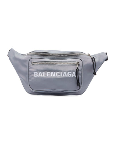 Wheel Canvas Belt Fanny Pack Bag with Logo