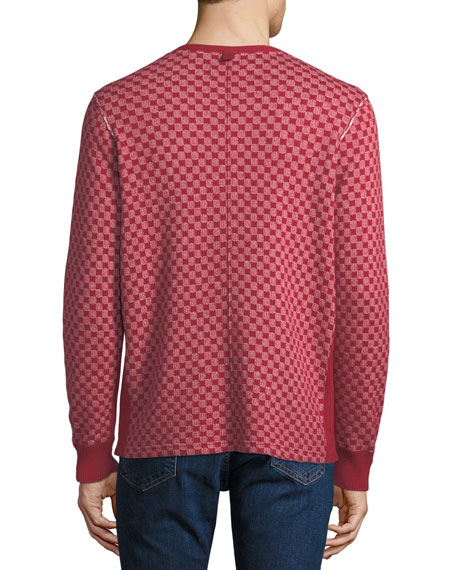 Ovadia & Sons Men's Zack Checkerboard Henley Shirt