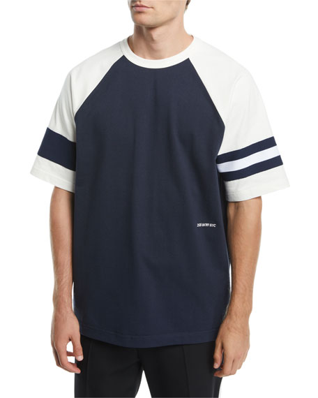 CALVIN KLEIN 205W39NYC Men's Two-Tone Rugby T-Shirt