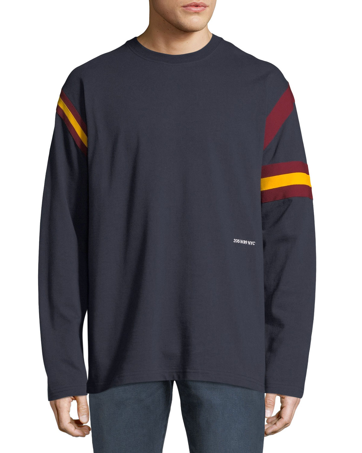 201a52adcd72 CALVIN KLEIN 205W39NYC Men's Long-Sleeve Rugby T-Shirt | Neiman Marcus