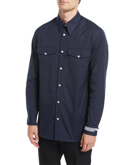 CALVIN KLEIN 205W39NYC Men's Cotton Pocket Sport Shirt