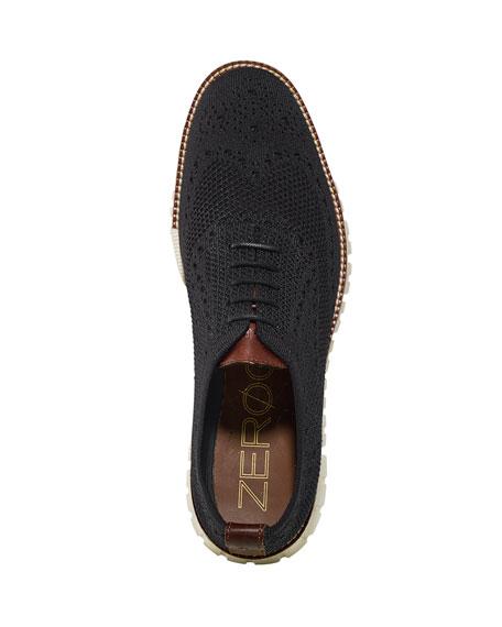 Men's ZeroGrand Knit Wing-Tip Oxford, Black