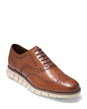 d1ccc2384089 Cole Haan Men s ZeroGrand Leather Wing-Tip Oxford
