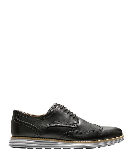 Men's Original Grand Leather Wing-Tip Oxford, Black