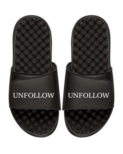 Men's Unfollow Slogan Pool Slide Sandal
