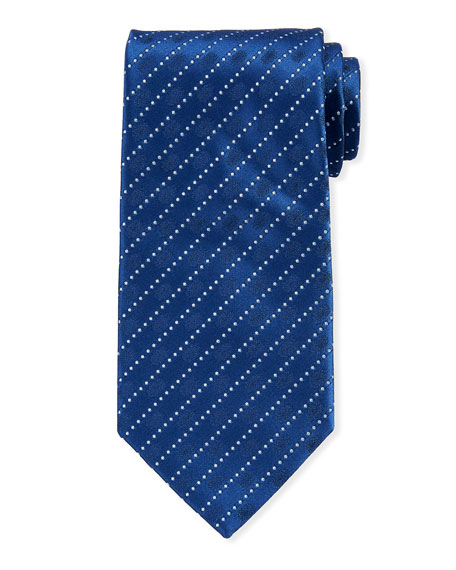 Charvet Dotted Striped Silk Tie