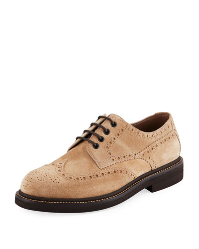Men's Brogue Lace-Up Shoes
