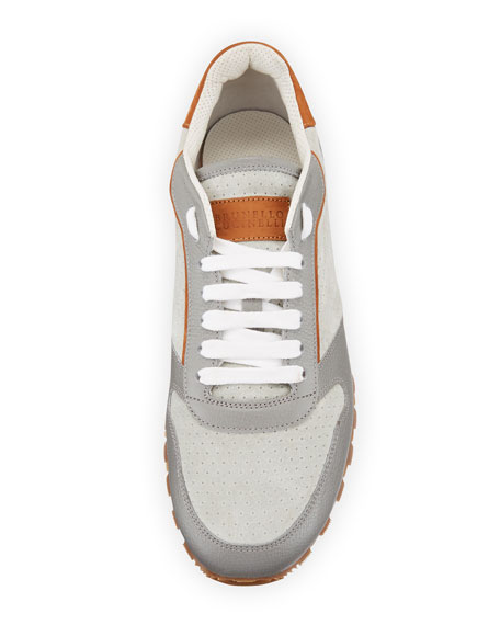 Men's Suede & Leather Trainer Sneaker