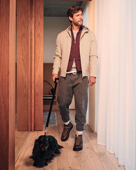 Brunello Cucinelli Men's Calf Leather Hiker Boot