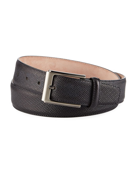 Magnanni for Neiman Marcus Men's Grabado Leather Belt