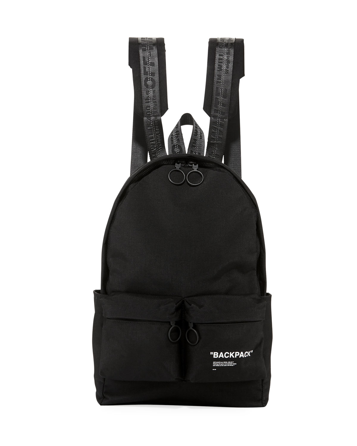 Black Off White Backpack Patmo Technologies Limited