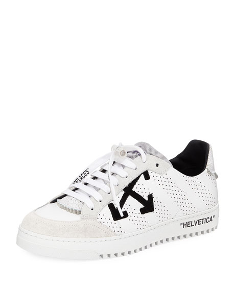 Off-White Men's 2.0 Perforated Leather & Suede Low-Top