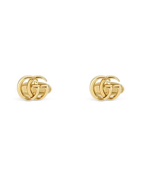Gucci 18k Yellow Gold GG Running Cufflinks