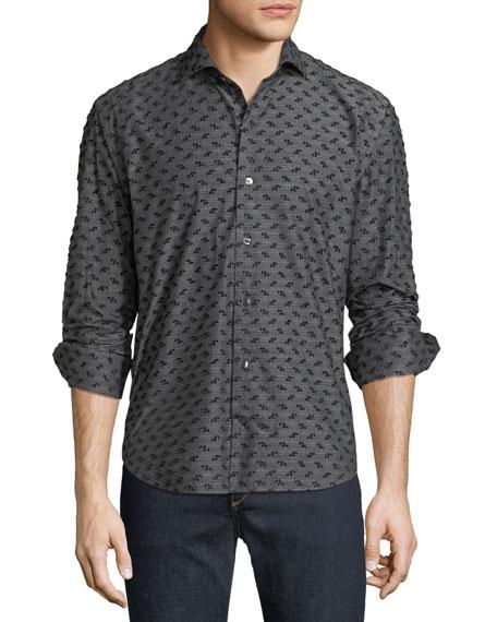 Culturata Men's Coupe Textured Sport Shirt