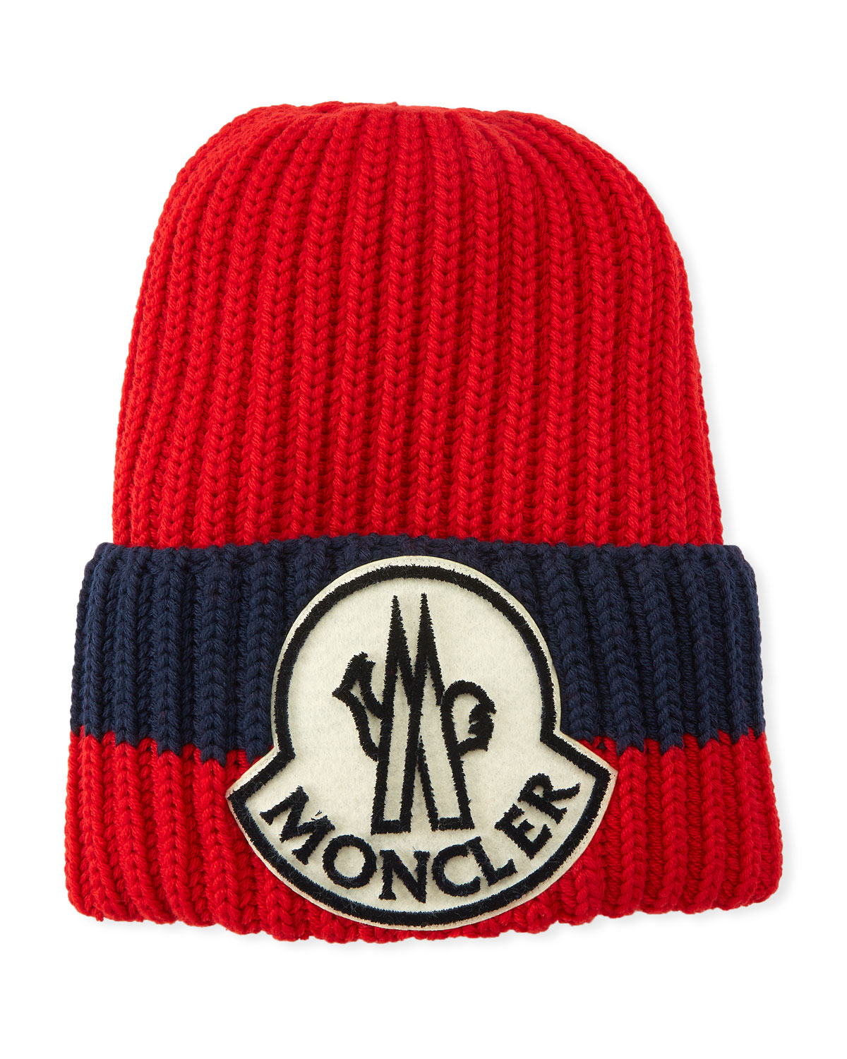 ecbccc561a8 Moncler Men s Ribbed Colorblock Beanie Hat