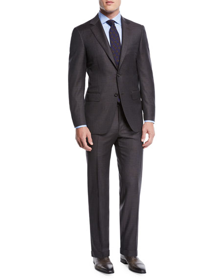 Canali Men's Plaid Two-Piece Wool Suit