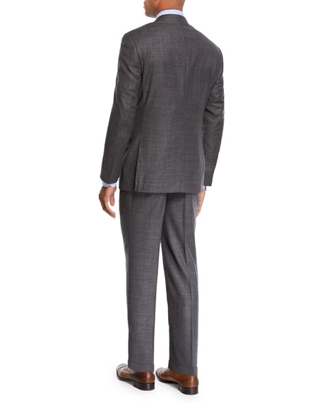 Canali Men's Step-Weave Wool Two-Piece Suit