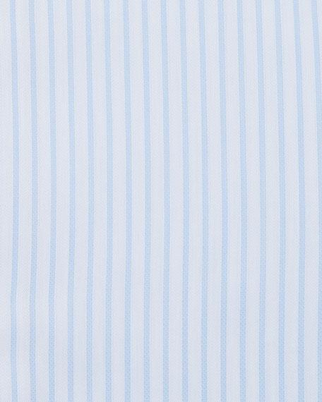 Brioni Men's Tonal-Stripe French-Cuff Dress Shirt