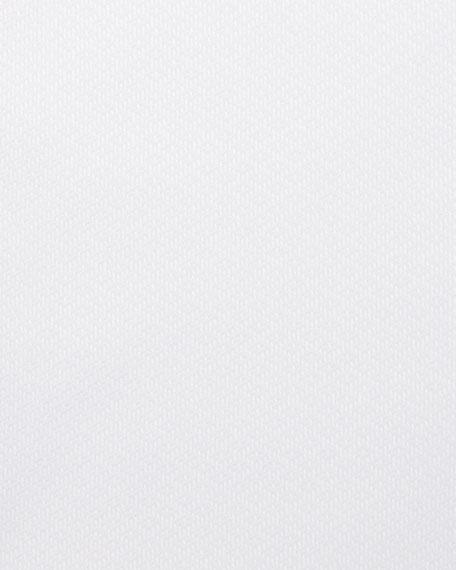 Brioni Men's Diamond-Weave French Cuff Dress Shirt