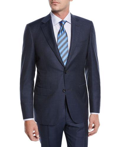 Men's Tonal Stripe Two-Piece Suit