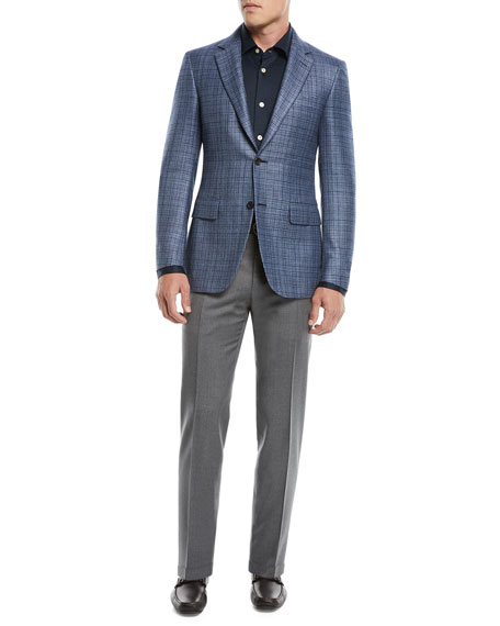 Canali Men's Flat-Front Wool Pants