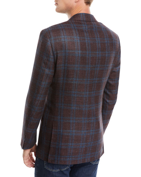 Canali Men's Two-Tone Plaid Jacket