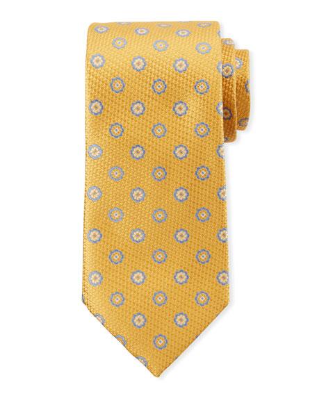 Canali Men's Fancy Circles Silk Tie